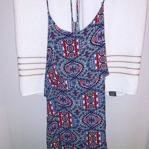 GB multi color sundress with overlay